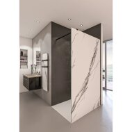 Inloopdouche BWS Free Time 140x200 cm Marmer Glas Timeless Coating Mat Zwart Profiel