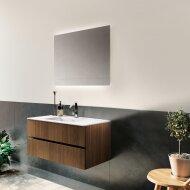 Badkamerspiegel Xenz Garda 70x70cm met Ledverlichting Boven- en Onderzijde