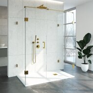 Douchecabine Compleet Just Creating Profielloos XL 90x160 cm Goud