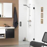 Nisdeur Get Wet by Sealskin 'I AM' 80x200 cm Mat zwart Helder Glas Antikalk