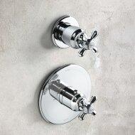 Douchethermostaat Hotbath Amice 1-stopkraan Inbouw Kruisgreep Chroom