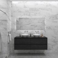Badkamermeubelset Gliss Zeus 180 cm Zwart Eiken Met Waskom