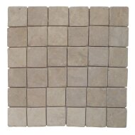 Mozaïek Parquet 5x5 Cream Tumble Marmer 30x30 cm (Prijs per 1m²)