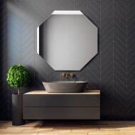 Badkamerspiegel Martens Design Stockholm Hexagon met Indirecte Verlichting Rondom