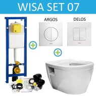 Wisa XS Toiletset set07 Wiesbaden Prio Randloos met Argos of Delos drukplaat