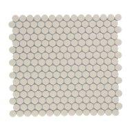 Mozaïek Venice Pennyround 31.5x29.4 cm Geglazuurd Porselein, Rond Glanzend Crème (Prijs Per 0.93 m2)