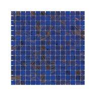 Mozaïek Amsterdam Goud 32.2x32.2 cm Glas Met Goude Ader En Midden Blauw (Prijs Per 1.04 m2)