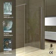 Wiesbaden Safety Glass 2.0 Inloopdouche + Muurprofiel 10mm NANO glas (ALLE MATEN)