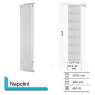 Handdoekradiator Napolini 2000 x 480 mm Donker grijs structuur