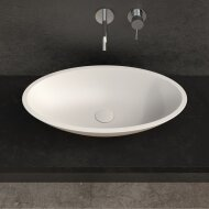 Opbouw Waskom Ideavit Solidjazz 60x35x9 cm Solid Surface Mat Wit