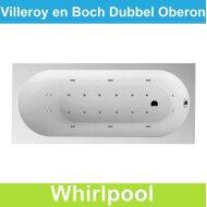 Ligbad Villeroy & Boch Oberon 170x70 cm Balboa Whirlpool systeem Dubbel | Tegeldepot.nl