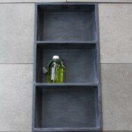 Inbouwnis Luca Sanitair 59,5x29,5x8 cm Polystone 3 Vakken Rechthoek Antraciet
