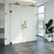 Douchecabine Compleet Just Creating Profielloos XL 90x200 cm Goud