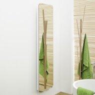 Handdoekradiator IP Cupertino Graphite Spiegel In 6 Verschillende Maten (Ook in elektrische uitvoering)
