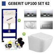 Geberit UP100 Toiletset Randloos Mudo Set62 met Delta Drukplaat