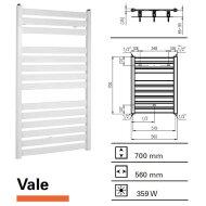 Designradiator Vale 700 x 560 mm Donkergrijs Structuur