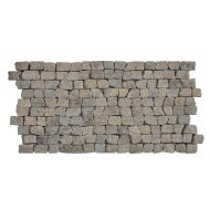 Mozaiek Brick Mosaic Sunset Brown Tumble Marmer 30x15mm (Prijs per 1m²)