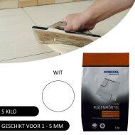 Voegmiddel Kreisel F120 voor vloer en wand Wit 5 KG