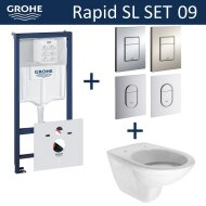Grohe Rapid SL Toiletset set09 Boss & Wessing Brussel met Grohe Arena of Skate drukplaat