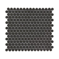 Mozaïek London 31.5x29.4 cm Onverglaasd Porselein Rond, Mat Antislip En Zwart (Prijs Per 0.93 m2)