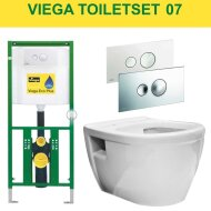 Viega EcoPlus Toiletset 07 Wiesbaden Prio Randloos met Visign for Style 10 drukplaat