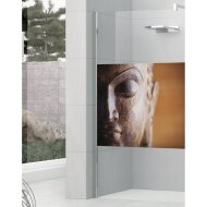 Inloopdouche Kuadra in Art Buddha 140x200cm Profiel Links