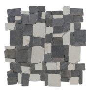Mozaïek Random Mix Gray/Cream Marmer 30x30 cm (Prijs per 1m²)