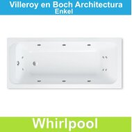 Ligbad Villeroy & Boch Architectura 150x70 cm Balboa Whirlpool systeem Enkel | Tegeldepot.nl