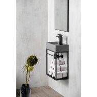 Fonteinset Sapho Crest Kraangat Rechts 40x45x22 cm Beton
