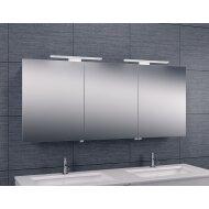 Spiegelkast Wiesbaden met Led Verlichting 160x60 Aluminium