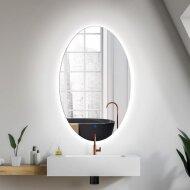 Badkamerspiegel Gliss Oval VERTIKAAL LED Verlichting 100x60 cm