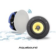 Speakerset Aquasound Move Bluetooth 4.0 (21cm) 70 Watt (230V/12V) Wit