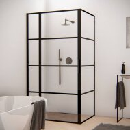 BWS Douchecabine Frame 100x110 cm 8 mm NANO Glas Mat Zwart Raster