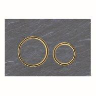 Bedieningsplaat Geberit Sigma 21 voor 2-toets Spoeling Messing Goud / Mustang Leisteen