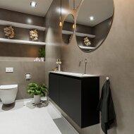 MONDIAZ TURE 120cm toiletmeubel urban. EDEN wastafel talc rechts geen kraangat