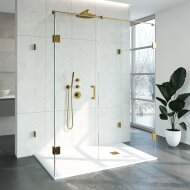Douchecabine Compleet Just Creating Profielloos XL 100x160 cm Goud
