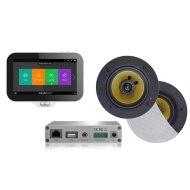 Music Center Aquasound N-Joy Controller (IPX7) + Wand Lader + Rumba Speakerset + Wifi-Audio Versterker 30 Watt Wit