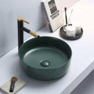 Waskom Sanilux Victoria Color Line Rond 39 cm Inclusief Click Waste Mat Jade Groen