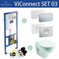 Villeroy & Boch ViConnect Toiletset SET03 Sphinx econ II | Tegeldepot.nl