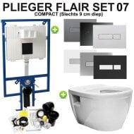 Plieger Flair Compact Toiletset set07 Wiesbaden Prio Randloos met Flair drukplaat