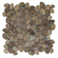 Mozaïek Oval Light Brown Marmer 30x30 cm (Prijs per 1m²)