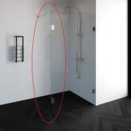 Zijwand Draaibaar Profielloos Just Creating DZ1 30 cm Zonder Beslag Omkeerbaar Helder Glas