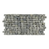 Mozaiek Brick Mosaic Light Gray Tumble Marmer 30x15mm (Prijs per 1m²)