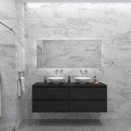 Badkamermeubelset Gliss Zeus 200 cm Zwart Eiken Met Waskom