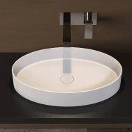 Opbouwwastafel Ideavit Solidthin 60x35x12.5 cm Solid Surface Mat Wit