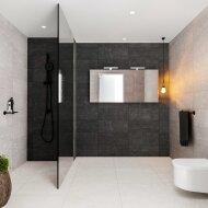 Spiegelkast BWS Valencia 150x70x16 cm met Twee Deuren Carrara Mat