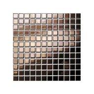 Mozaïek Barcelona 30x30 cm Metallic Porselein En Coated Roze Goud (Prijs Per Vel)