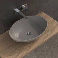 Opbouw Waskom Ideavit Solidthin 60x40x14.5 cm Solid Surface Mat Grijs
