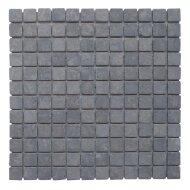 Mozaïek Parquet 2,4x2,4 Light Gray Tumble Marmer 30x30 cm (Prijs per 1m²)