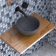 Opbouw Waskom Ideavit Solidmicro 23x11.5 cm Solid Surface Mat Donker Grijs